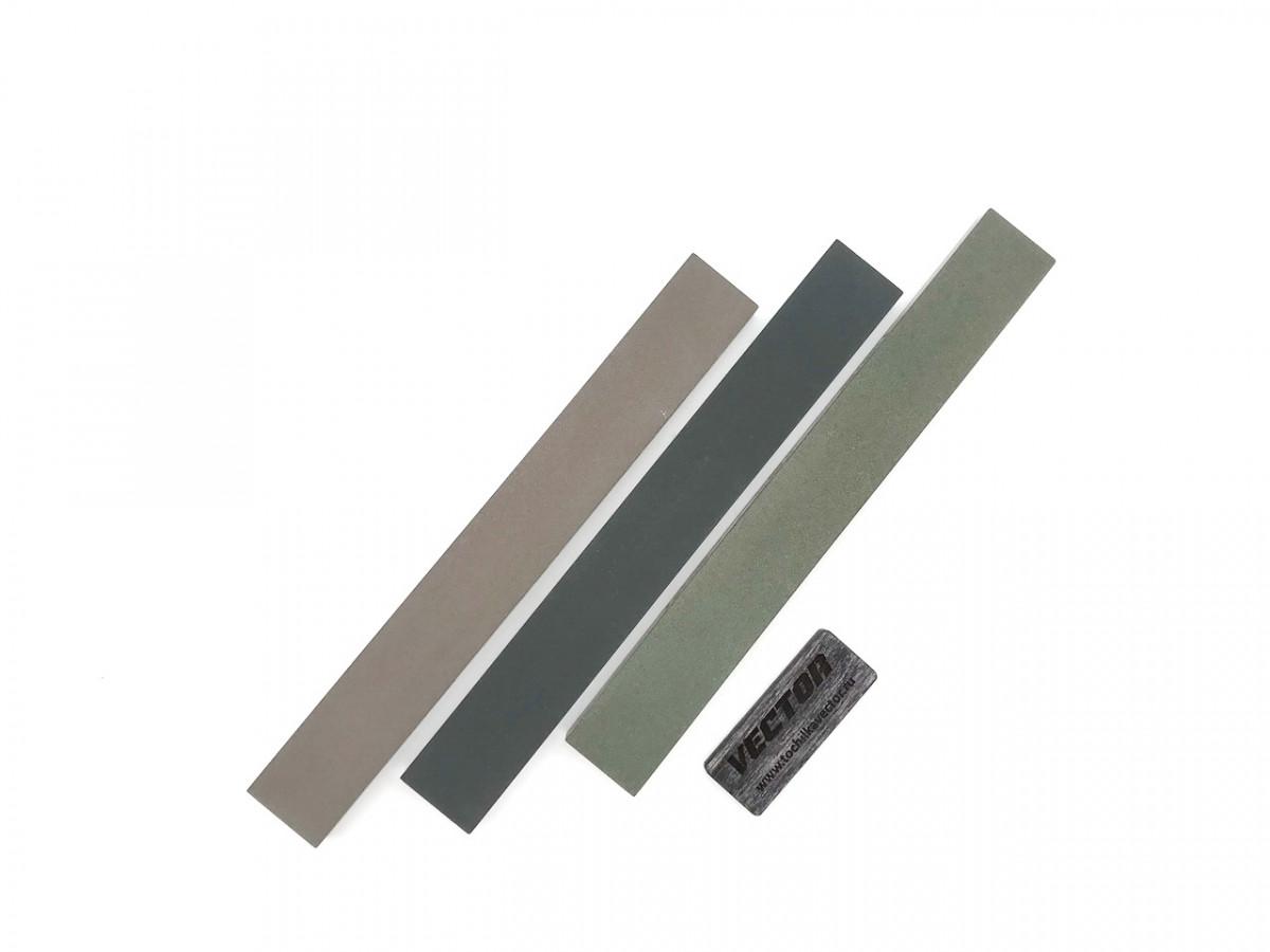 Комплект 2-х сторонних алмазных брусков VID 3 шт (6 зерен), С100%, 200мм