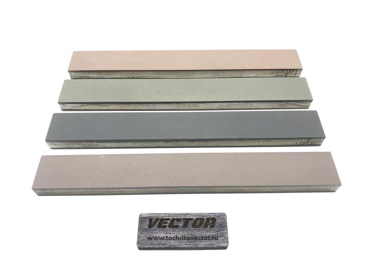 Комплект 2-х сторонних алмазных брусков VID 4 шт (8 зерен), С100%, 200мм