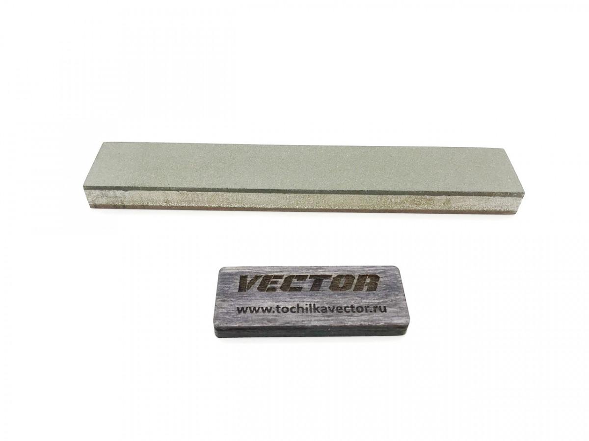 Алмазный 2-х сторонний брусок VID 200/160-160/125 (80-100grit) С25%, 150х25х10мм
