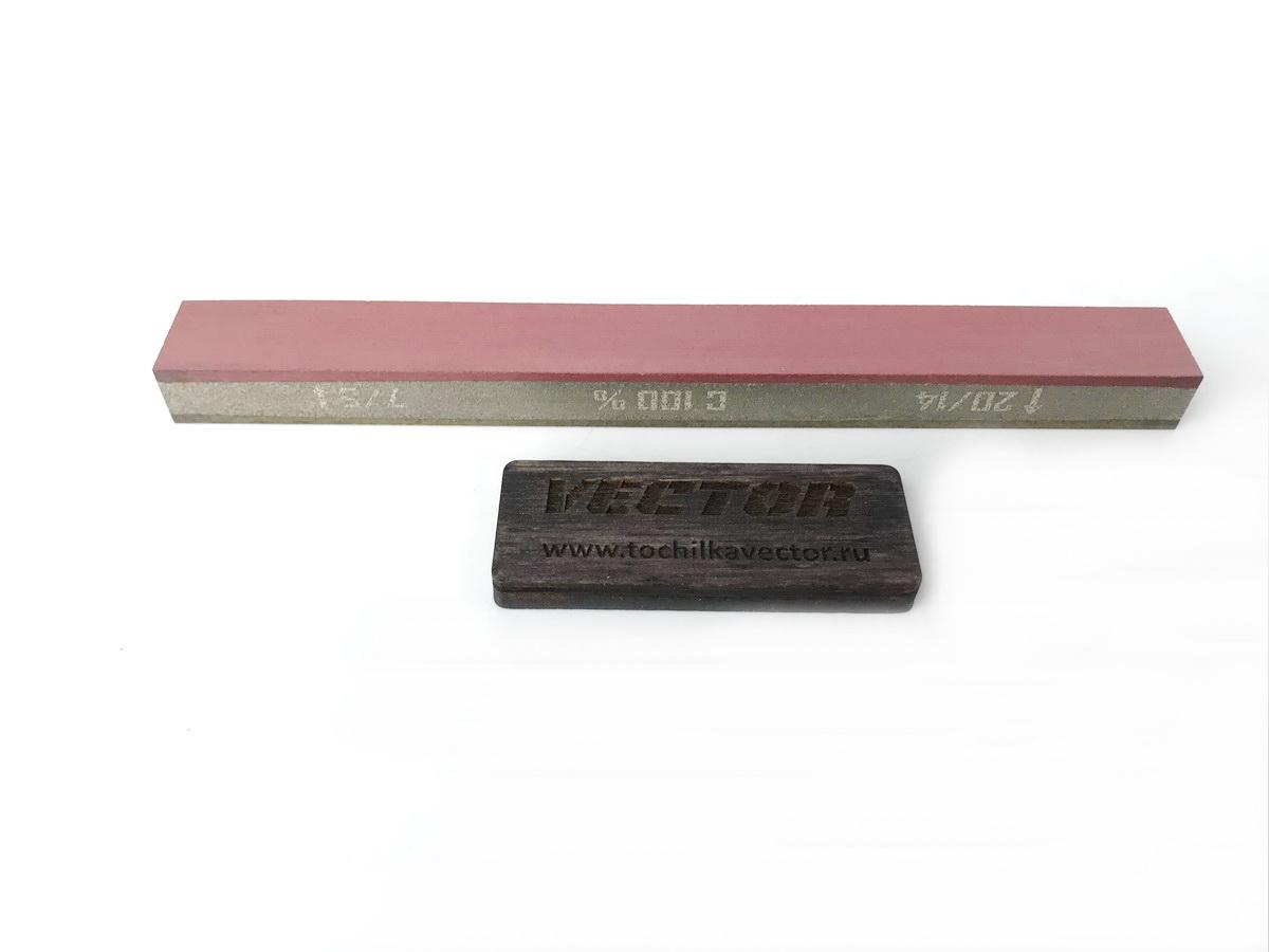 Алмазный 2-х сторонний брусок VID 3/2-1/0 (5000-9000grit) С100%, OSB, 150х16х10мм