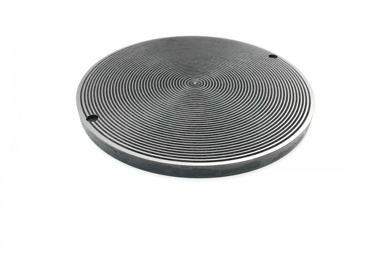 Притирочная плита с канавками 200 мм, ВеАл