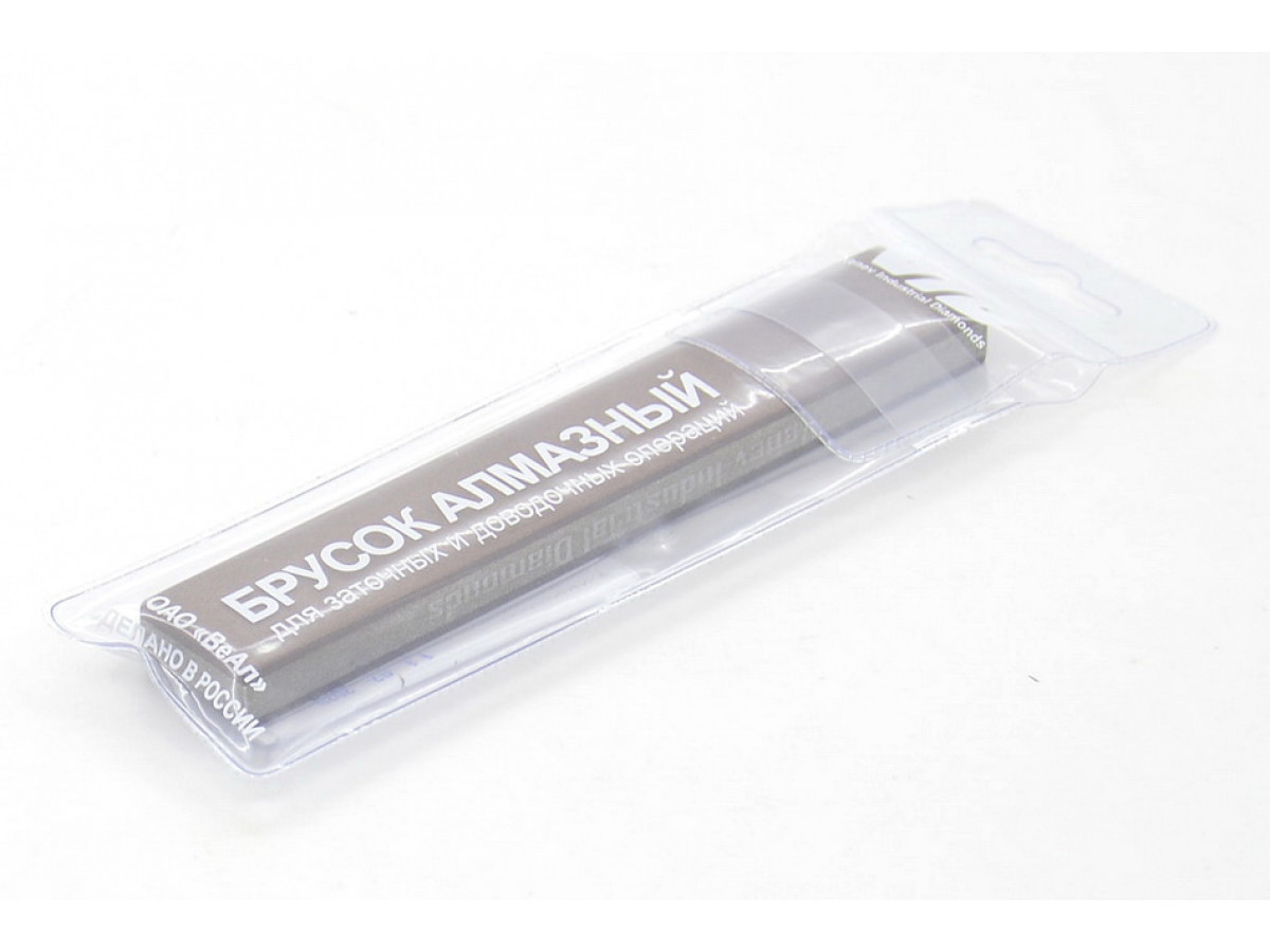 Алмазный 2-х сторонний брусок VID 200/160-160/125 (80-100grit) С50%, 150х25х10мм