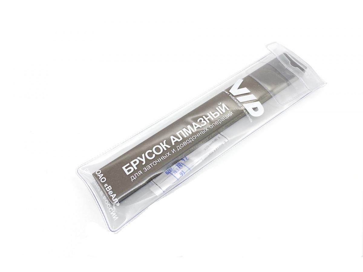 Алмазный 2-х сторонний брусок VID 200/160-160/125 (80-100grit) С50%, 200х25х10мм