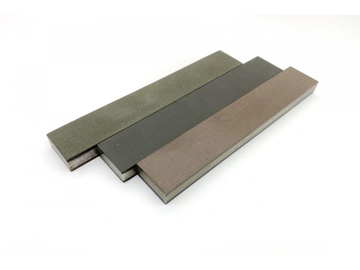 Комплект 2-х сторонних алмазных брусков VID 3 шт (6 зерен) С50%, 150х25х10мм