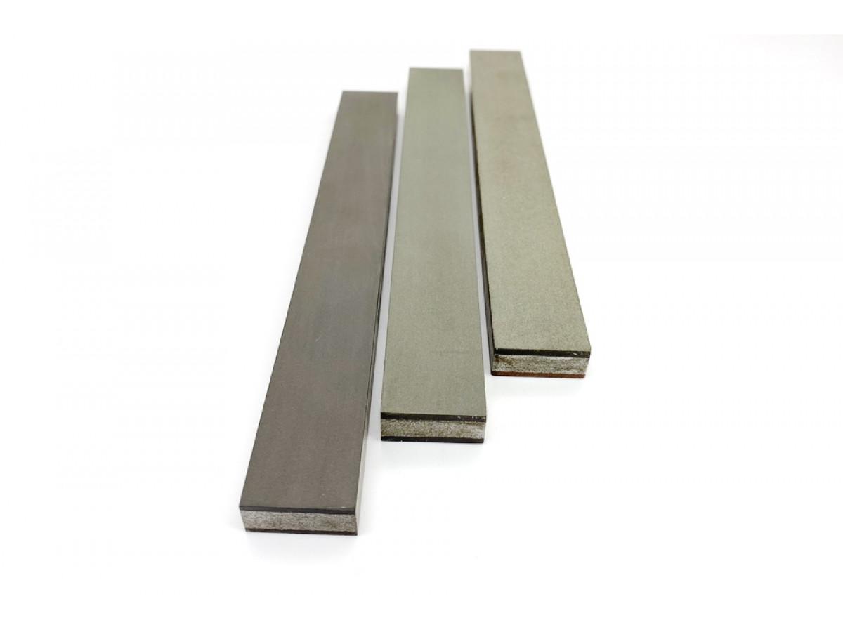Комплект 2-х сторонних алмазных брусков VID 3 шт (6 зерен) C50%, 200мм