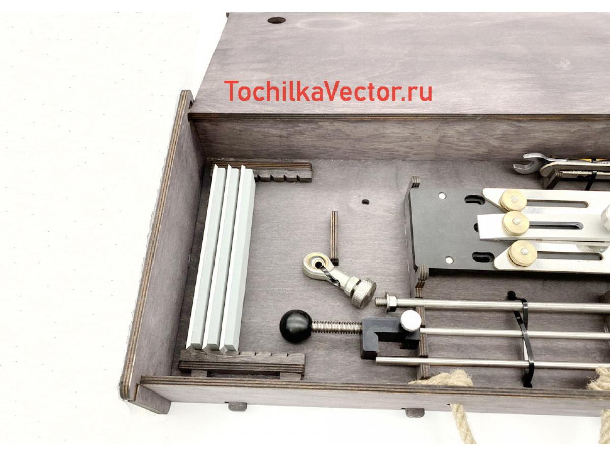 Деревянный ящик для хранения точилки Вектор